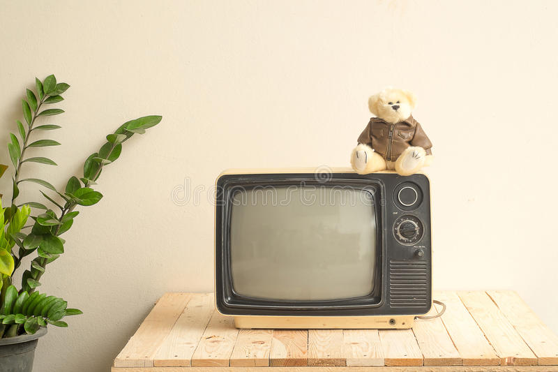 Televisione antica immagine stock