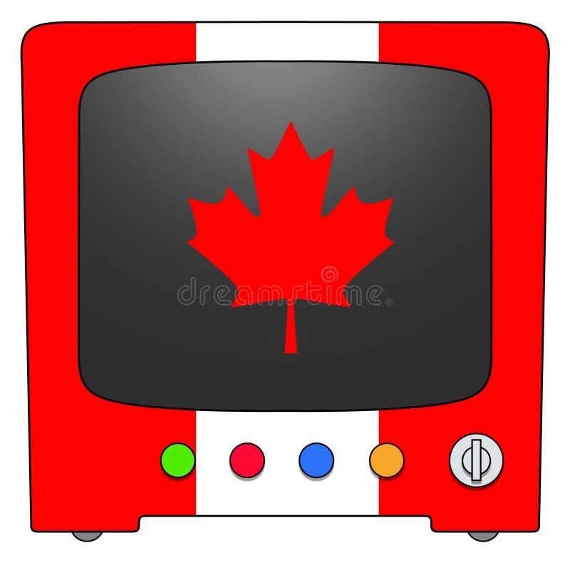 Televisione Canada illustrazione di stock
