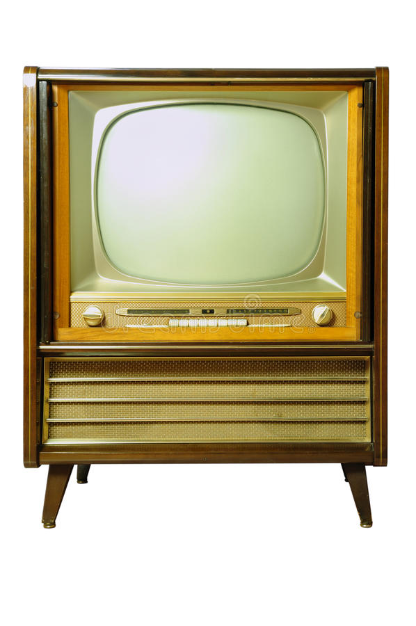 Televisione d'annata fotografie stock