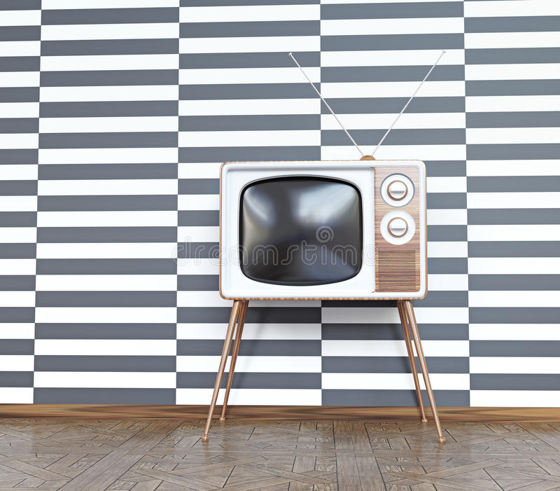 Televisione d'annata illustrazione di stock