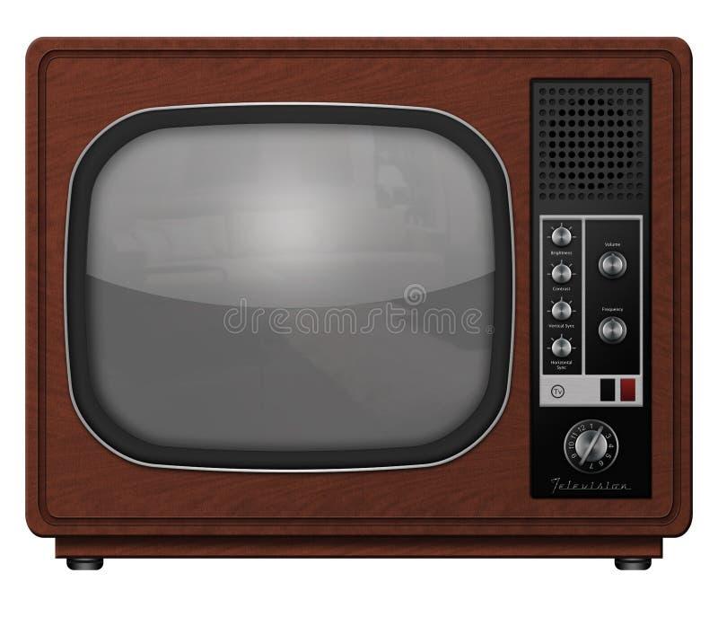 Televisione dell'annata immagini stock libere da diritti