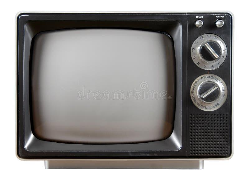 Televisione dell'annata fotografia stock libera da diritti