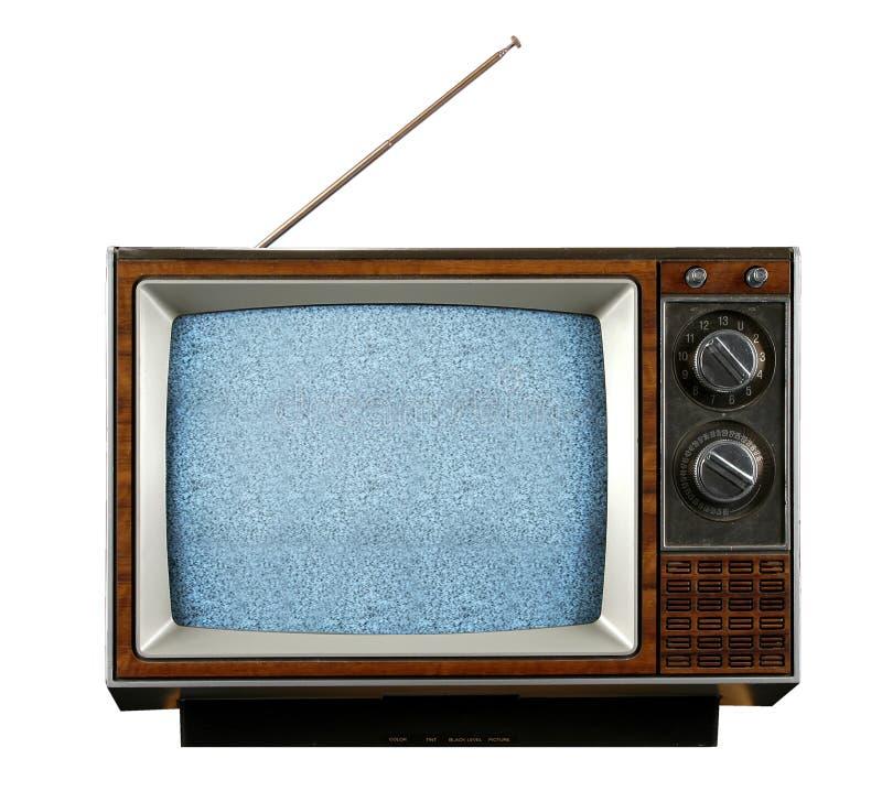 Televisione dell'annata senza segnale immagine stock libera da diritti
