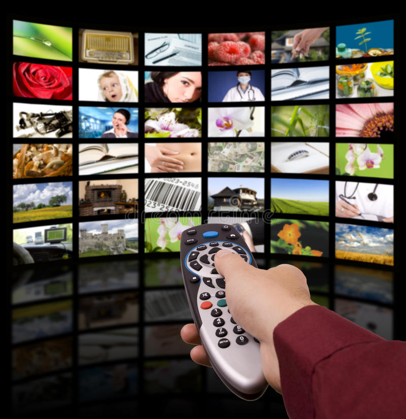 Televisione Di Digitahi, Telecomando TV. Fotografie Stock