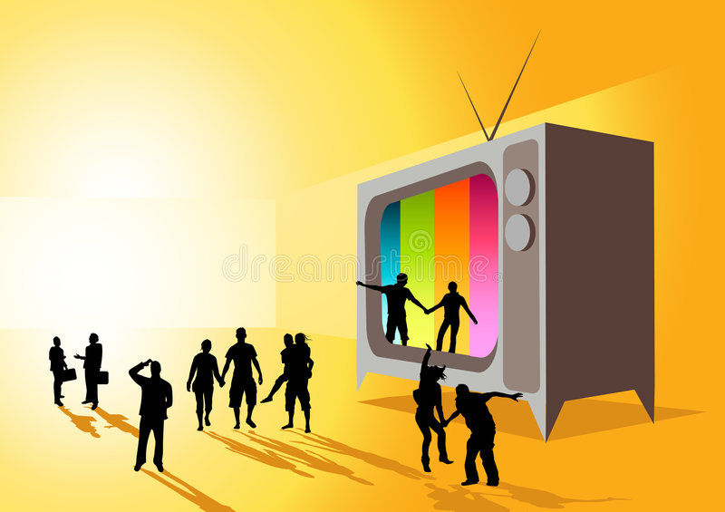 Televisione di realtà royalty illustrazione gratis