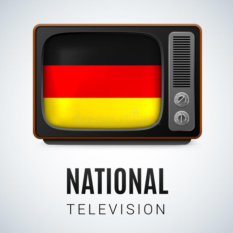 Televisione nazionale royalty illustrazione gratis