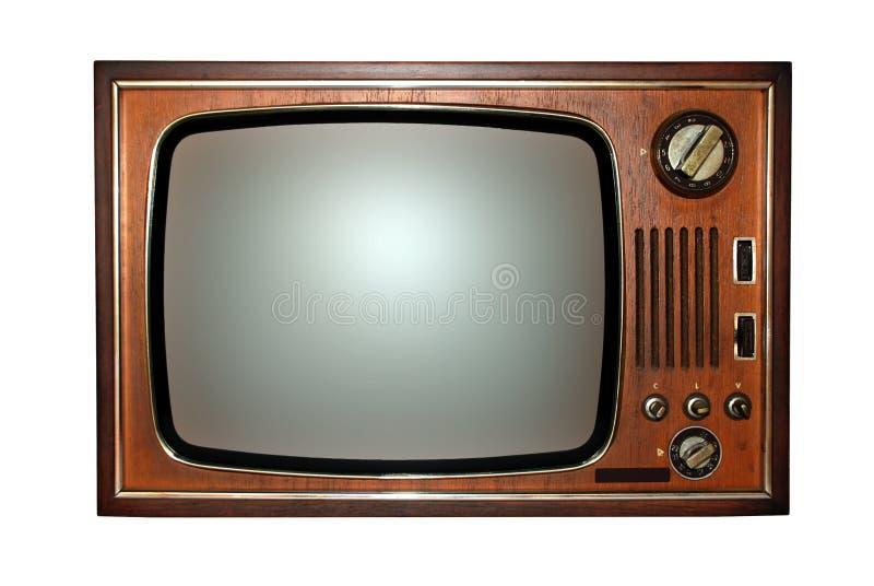 Televisione vecchia, TV retro immagini stock