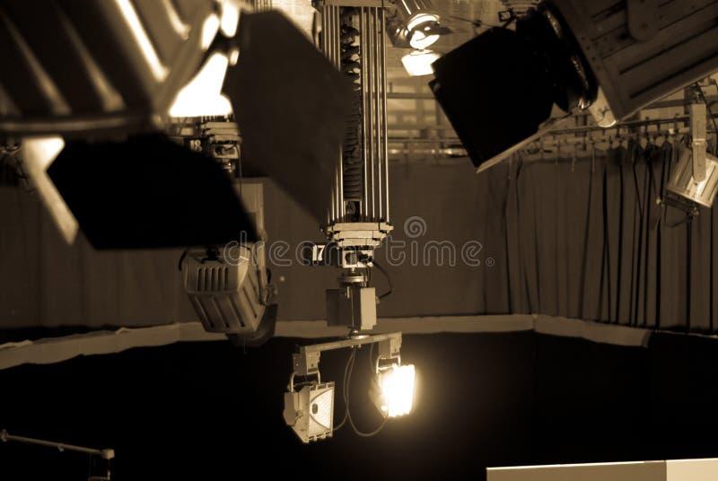 Televisionstudio fotografering för bildbyråer