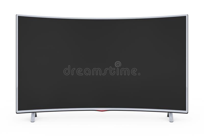 Televisor de plasma LCD o monitor elegante curvado representación 3d libre illustration
