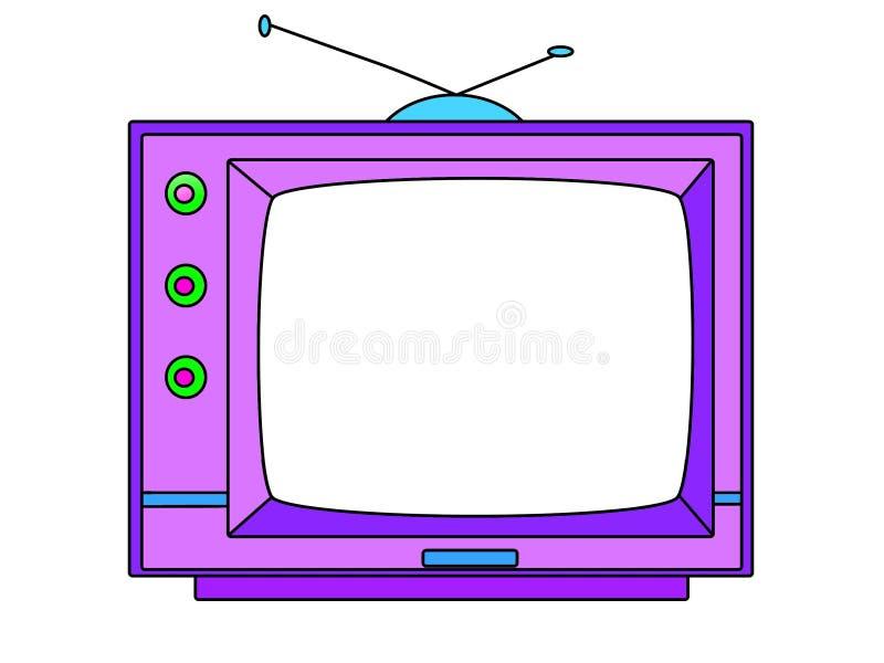 Televisore del fumetto - illustrazione fotografia stock libera da diritti