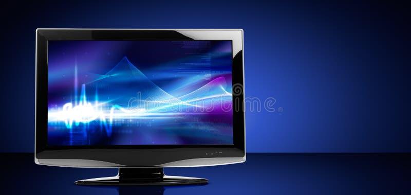 Televisore dell'affissione a cristalli liquidi immagine stock libera da diritti