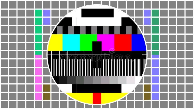 Telewizja ekranu koloru próbny wzór royalty ilustracja