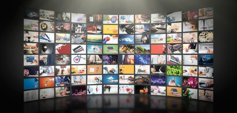 Telewizja leje się wideo Środki TV na żądanie fotografia royalty free
