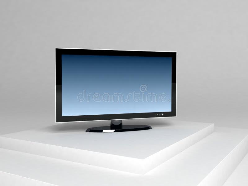 telewizja plazmy wymiarowej 3 ilustracja wektor