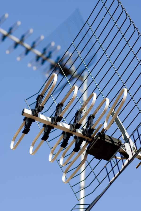 Telewizyjna antena zdjęcie royalty free