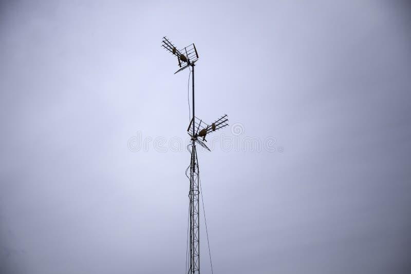 Telewizyjna antena zdjęcia stock