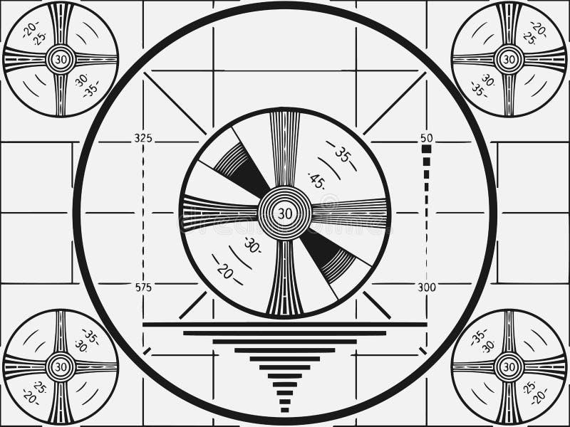 Telewizyjny Próbny wzór royalty ilustracja