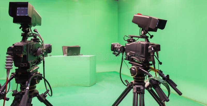 Telewizyjny studio fotografia royalty free
