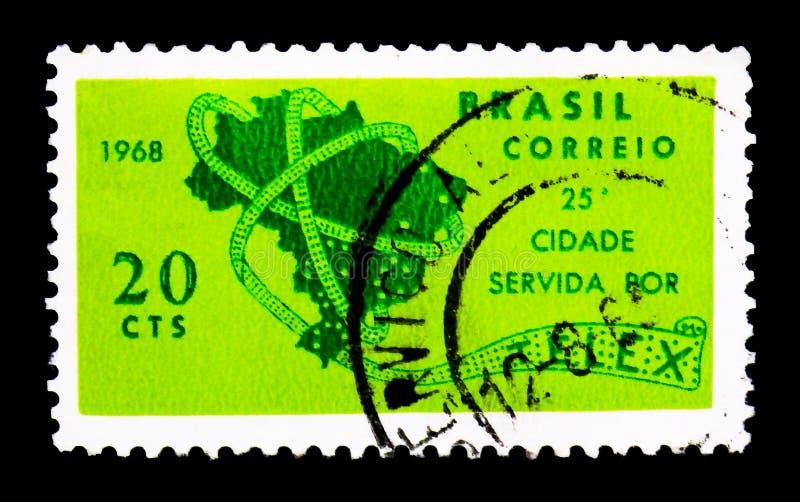 Telex, Ministerie van Post & Telecommunicaties serie, circa 1968 royalty-vrije stock afbeeldingen