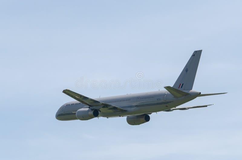 TELFORD,英国, 2018年6月09日,代表Ro的波音757-200 免版税库存照片
