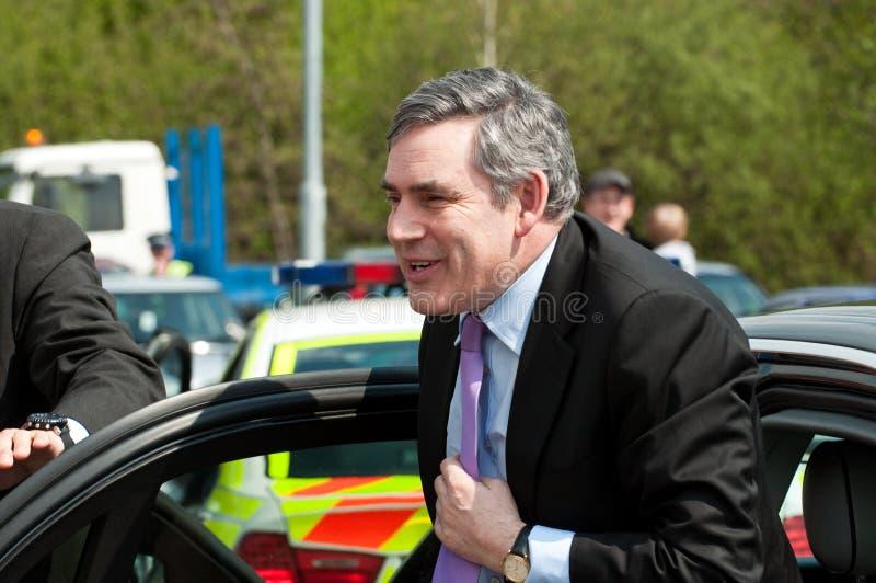TELFORD, GROSSBRITANNIEN - 4. MAI: Premierminister Gordon Brown stockfotos