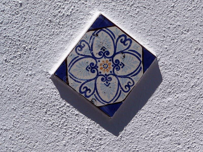 Telha azul da parede foto de stock royalty free