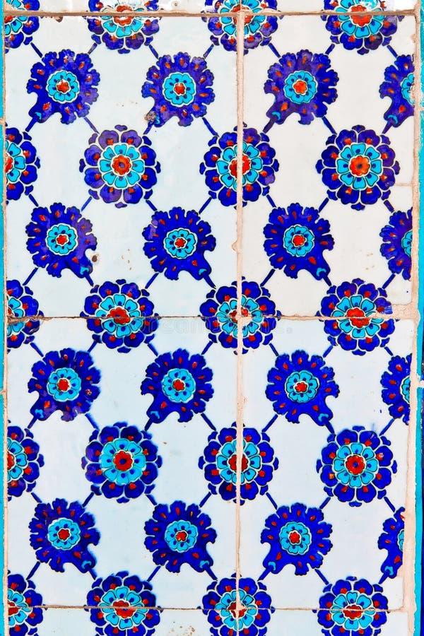 Download Telha azul turca Handmade foto de stock. Imagem de telha - 29843808