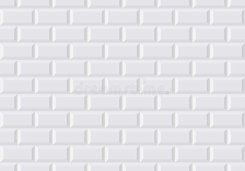 A telha branca da parede gosta no metro parisiense ilustração stock