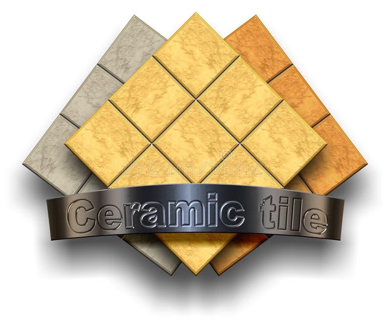 Telha cerâmica ilustração stock