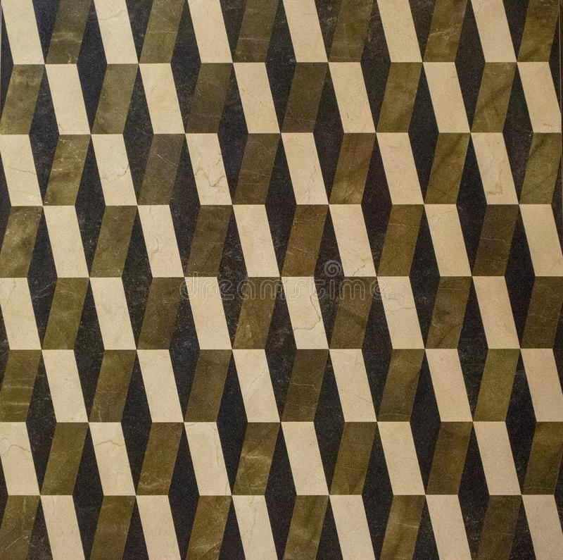 Telha de assoalho geométrica do teste padrão cerâmica foto de stock