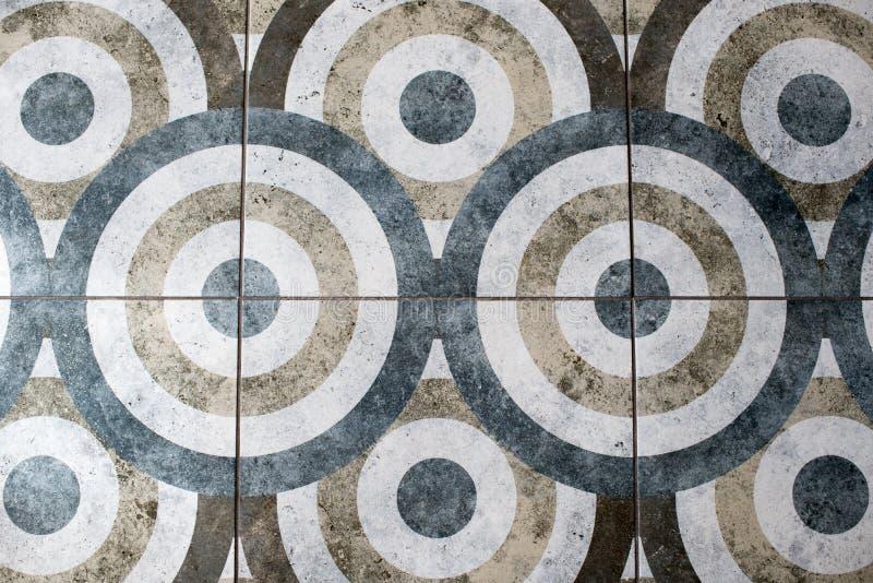 Telha de assoalho sob a forma de uma textura do círculo imagens de stock
