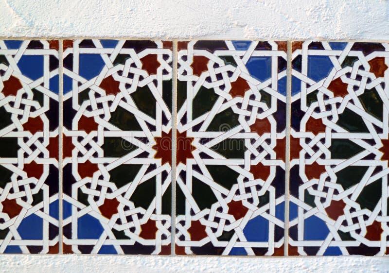 Telha de mosaico colorida foto de stock
