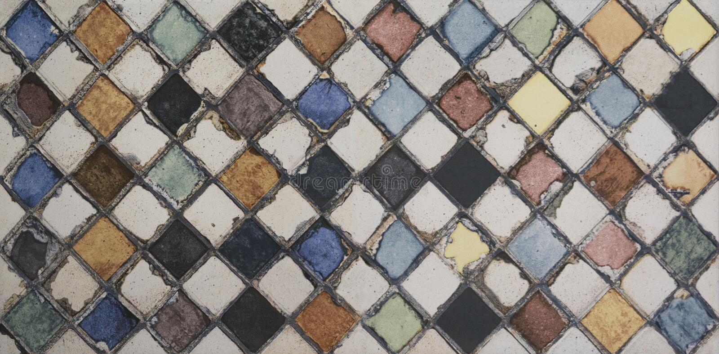 Telha de mosaico da aquarela fotografia de stock