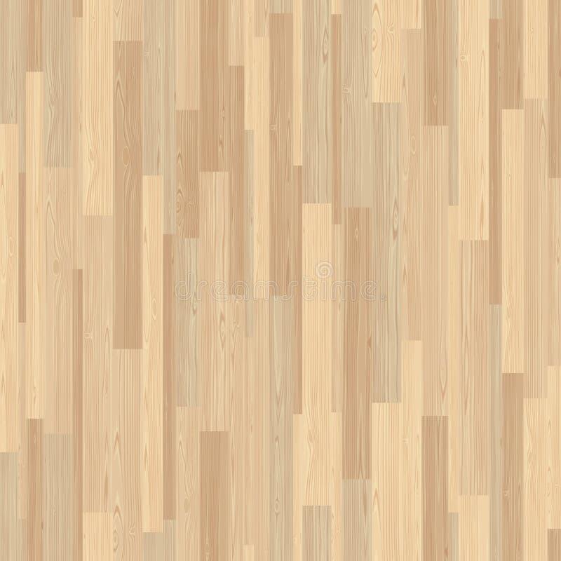 Telha de mosaico de madeira sem emenda da listra do parquet claro ilustração do vetor