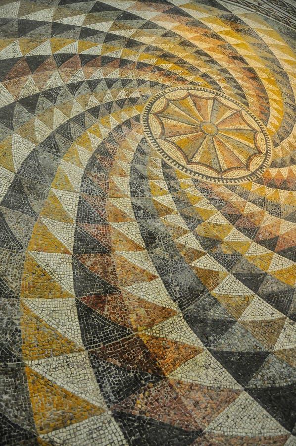 Telha de mosaico romana foto de stock