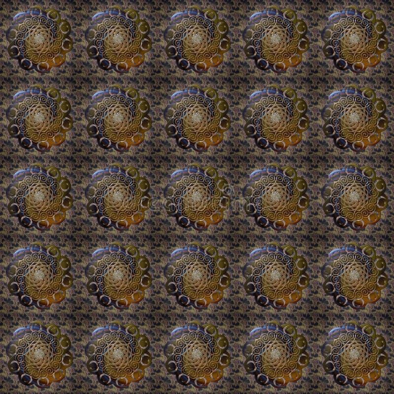 Telha de Seanless do giro da flor ilustração do vetor