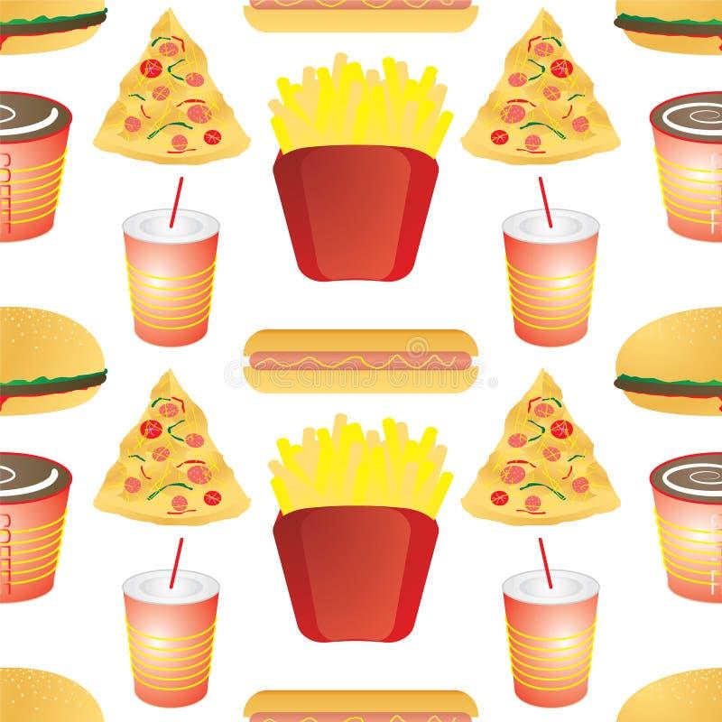 Telha do fast food ilustração stock