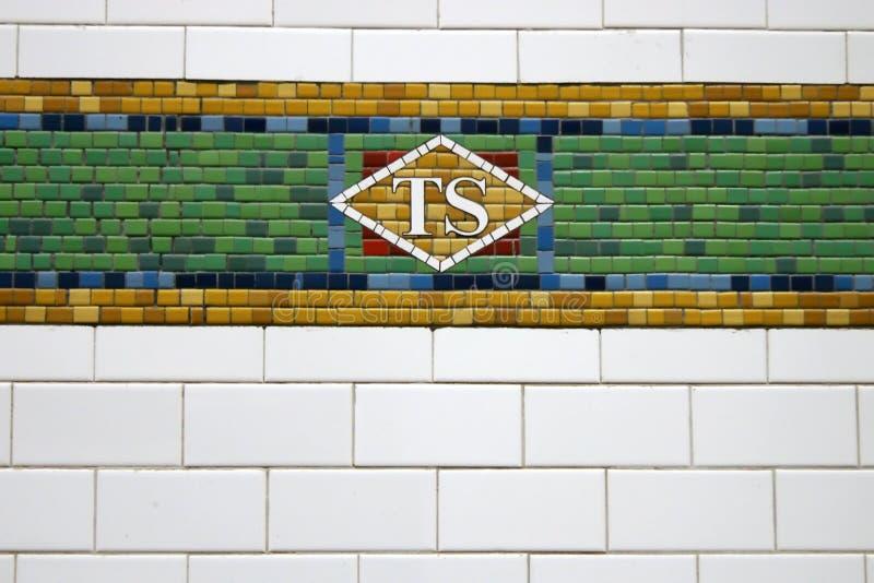 Telha do metro de New York foto de stock