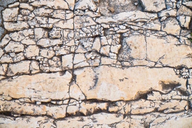 Telha do passeio, a textura do passeio no Temple Mount no Jerusalém foto de stock