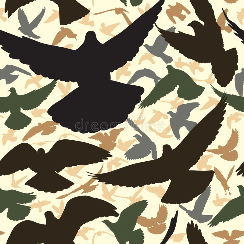 Telha do pombo ilustração stock