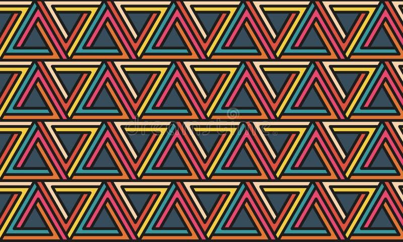 Telha do teste padrão do triângulo ilustração stock