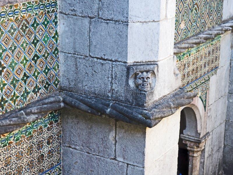Download Telha E Detalhe Do Fresco, Palácio De Pena, Sintra, Portugal Imagem de Stock - Imagem de gothic, palácio: 80102581