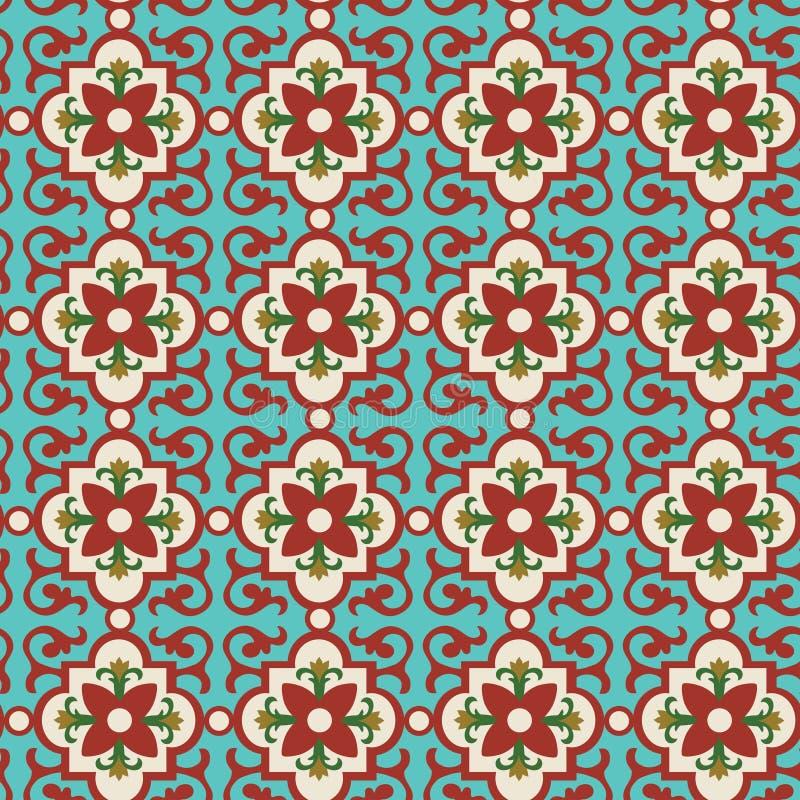 Telha floral ilustração royalty free