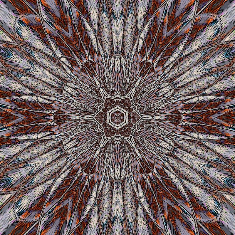 Telha floral do caleidoscópio do vitral foto de stock