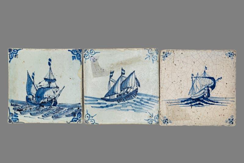 Telha holandesa do 16a ao século XVIII fotografia de stock