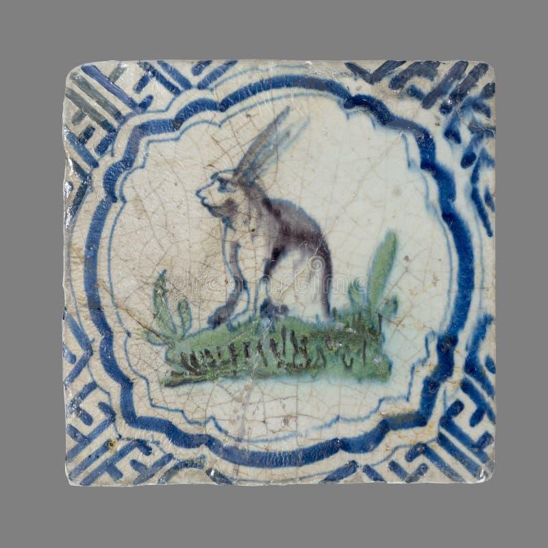 Telha holandesa do 16a ao século XVIII foto de stock royalty free
