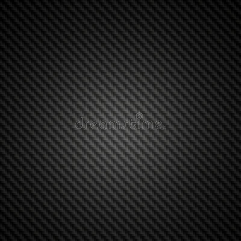 Telha preta do projector da fibra do carbono ilustração royalty free
