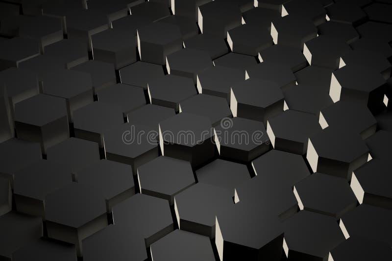 Telha preto e branco do hexágono imagem de stock
