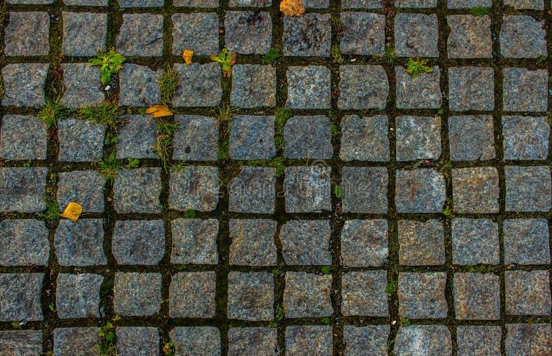 telha quadrada de pedra, tampa da borda da estrada imagem de stock
