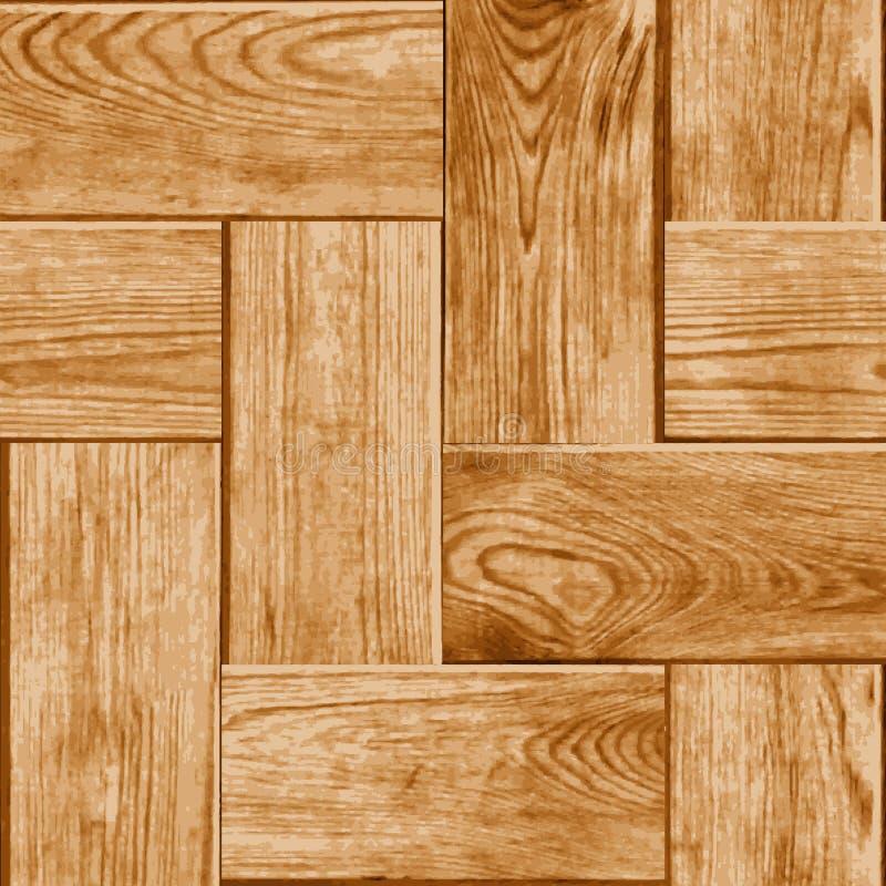 Telha sem emenda com uma representação de Digitas do parquet de madeira Floo ilustração royalty free